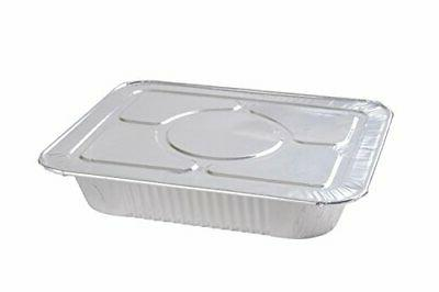 half deep foil steam pans