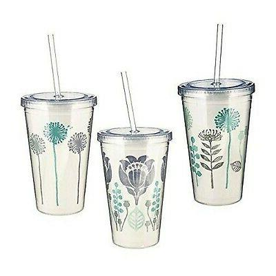 insulated double wall tumbler set with lids