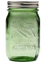 Ball Jar with Lid and Band - Pick Your Size and Color  by Ba
