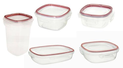 lock its food storage containers with lids