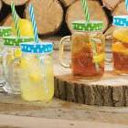 Mason Jar Mugs 16 Ounce With Handle Multi Colored Lids And P