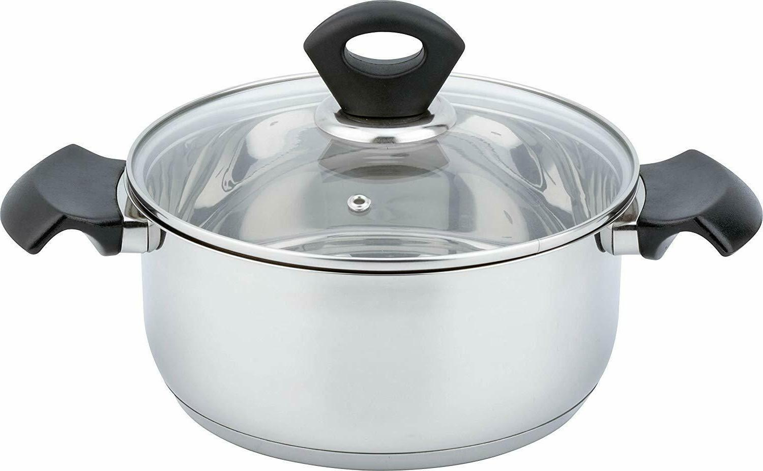 mirror polish stainless steel kitchen induction cookware