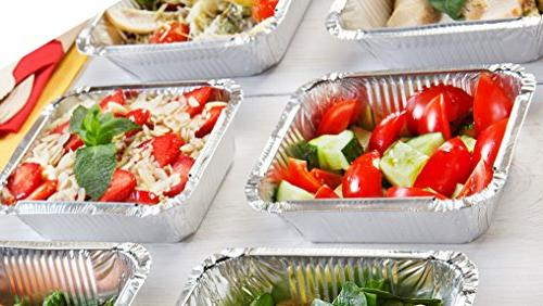 Tiger Chef Foil Pans Disposable Oven Safe Containers, for Takeout, Storing