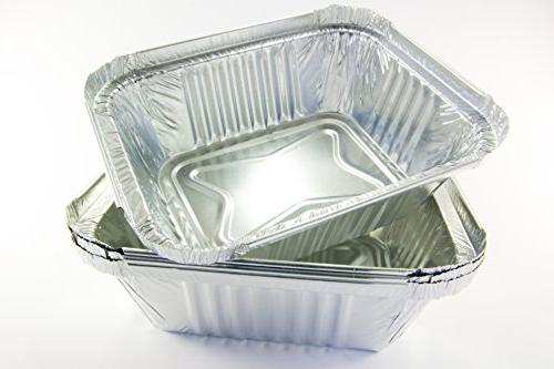 Tiger Chef Foil Pans Disposable to Oven for Takeout, Storing and
