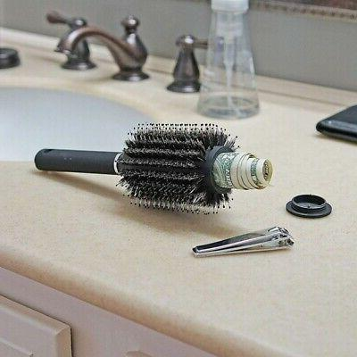 outdoor safe hair brush with removable lid