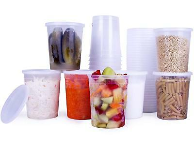 Plastic Containers Food with 32 Ounce
