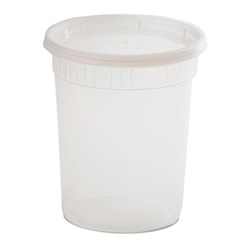 plastic soup food container