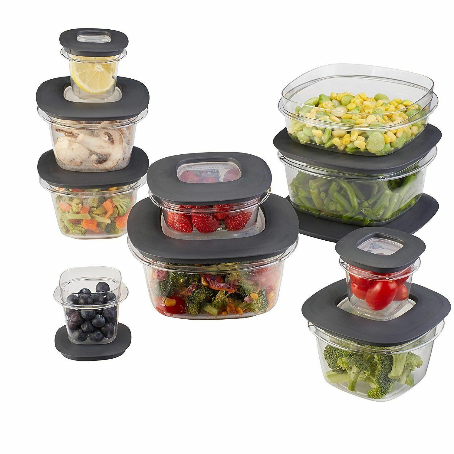 Containers with Easy Find Lids Set