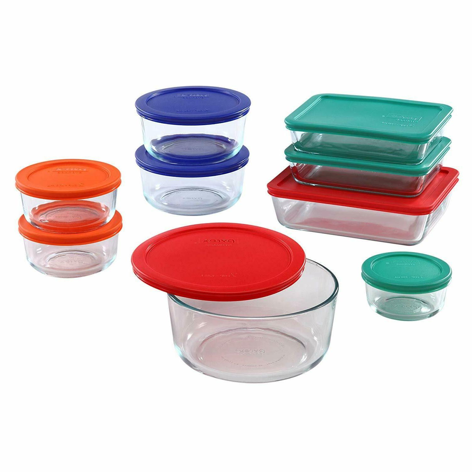 pyrex simply store glass rectangular and round