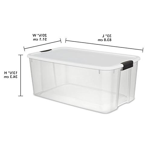 Sterilite Liter Ultra Clear with a Lid and 4-Pack
