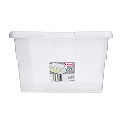 Sterilite Quart Box With White