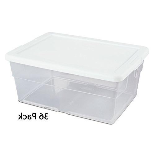 quart see through storage