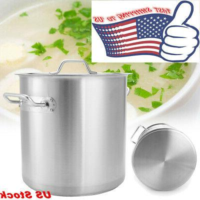 Safe Stock Pot Kitchen Cookware with Lid 36/50/71/98L