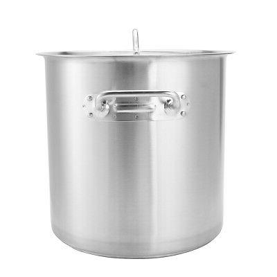 Safe Metal Stainless Steel Stock Cookware with Lid