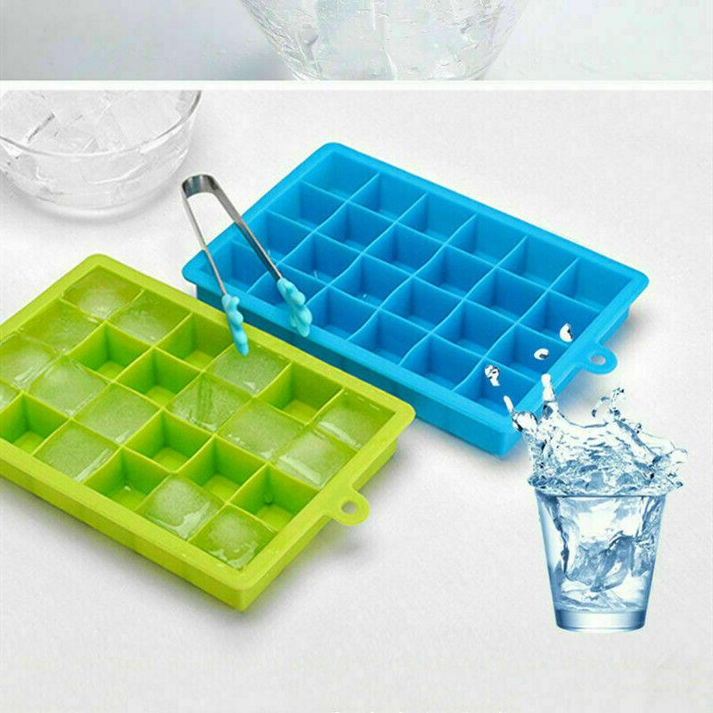 Silicone Ice Cube with Lid Maker Easy-Release 4 US New