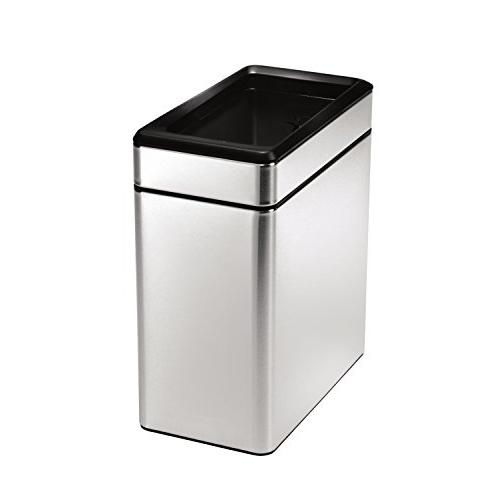 simplehuman Open Trash Can, Stainless