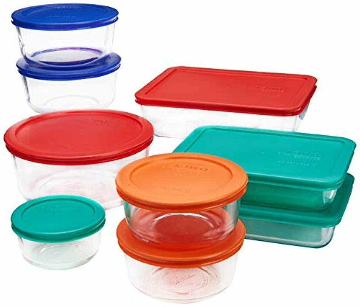 simply store glass rectangular and round food