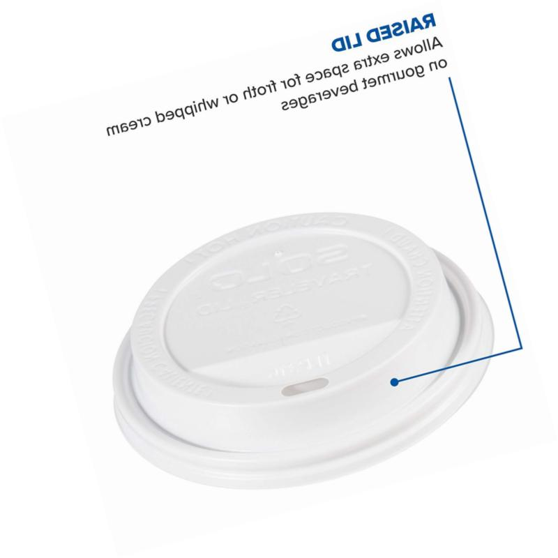 Solo White Plastic Lid - For Paper Hot