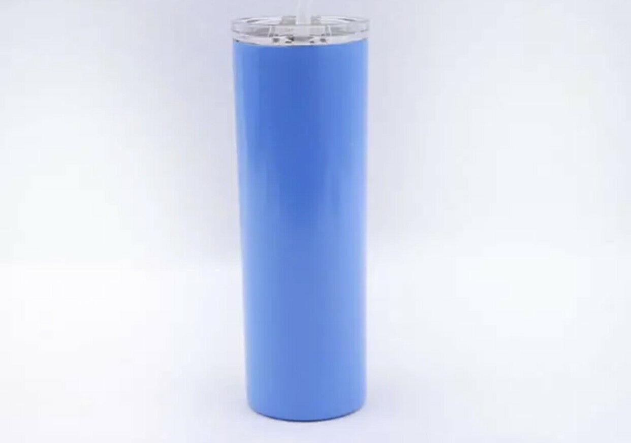 Stainless tumbler double wall insulated with and straws