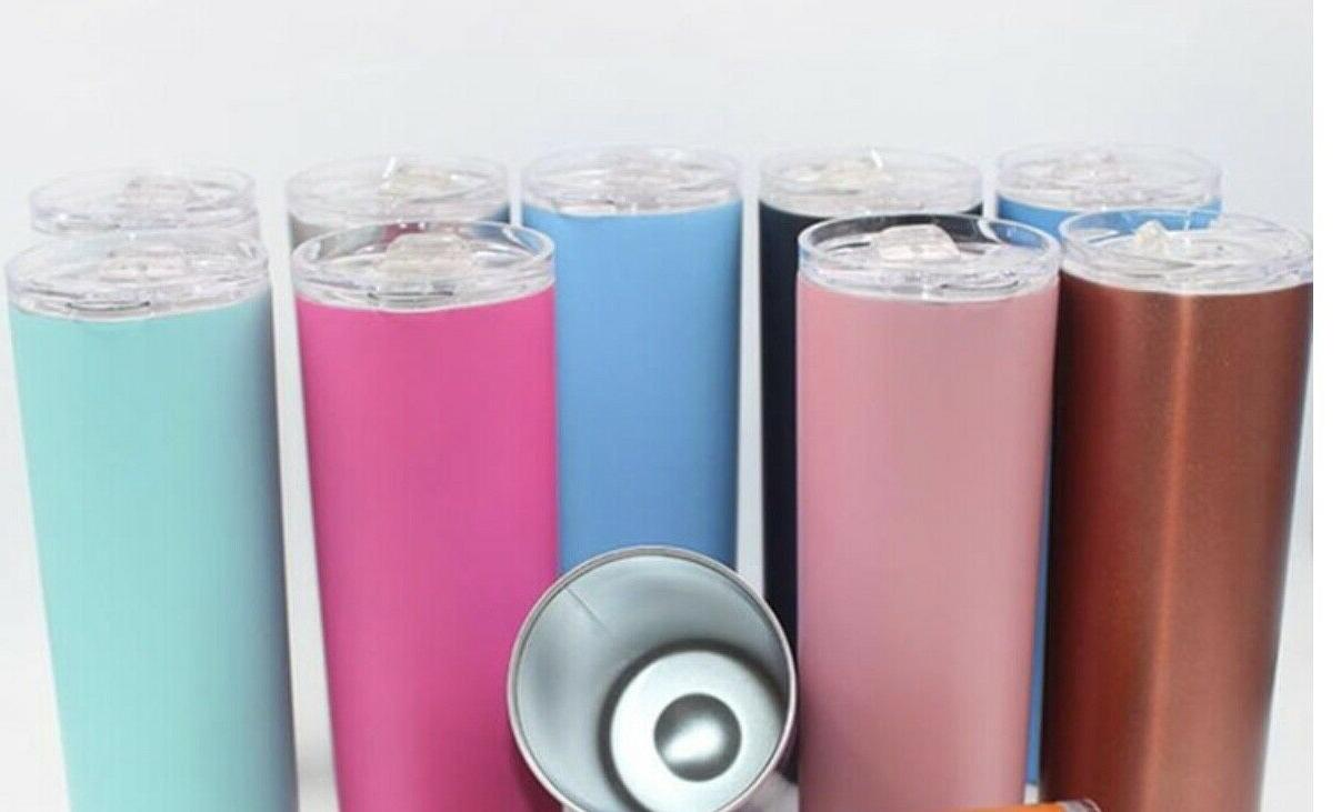 stainless steel 20oz skinny tumbler double wall