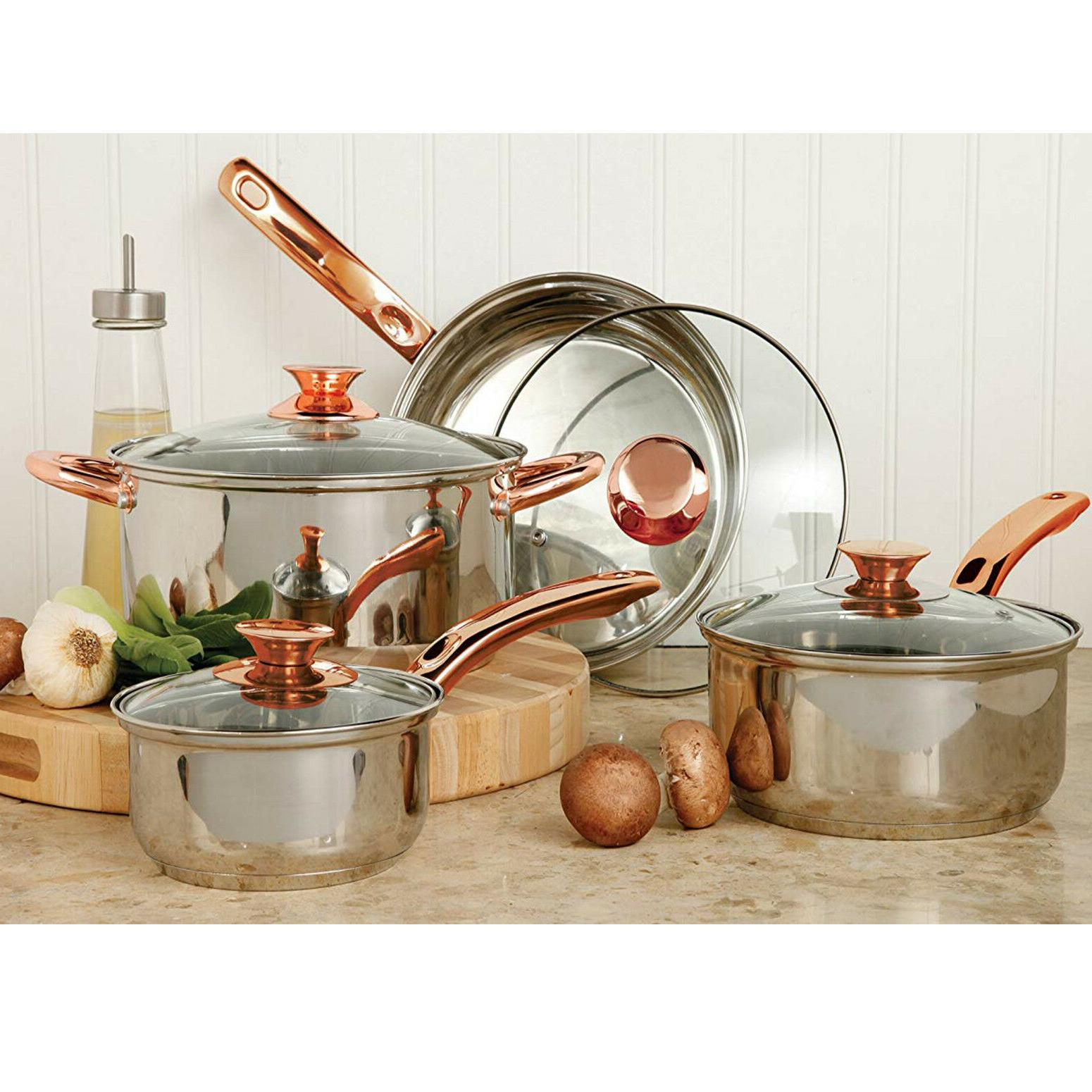 stainless steel cookware set non