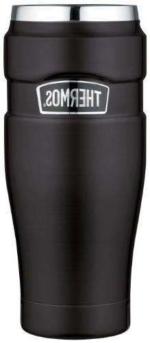 Thermos Stainless Steel King 16 Ounce Tumbler, Matte Black