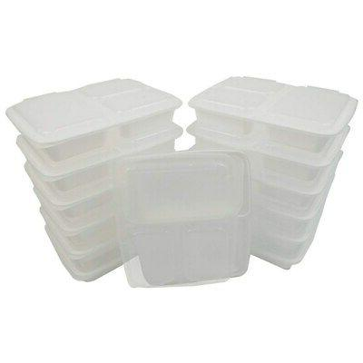 Table To Go 50-Pack Bento Lunch Boxes with Lids  |