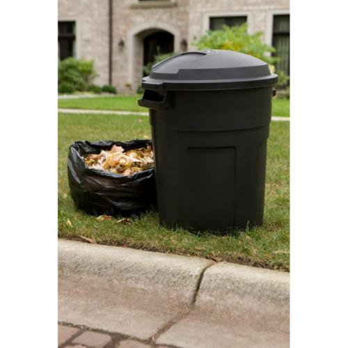 Trash with 20 Gal Round Yard Waste Recycle Heavy