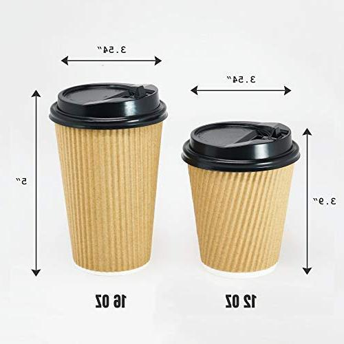 12-OZ Coffee 90 Set No Sleeves Required - Ripple Insulated for Go, No Leak! Recyclable