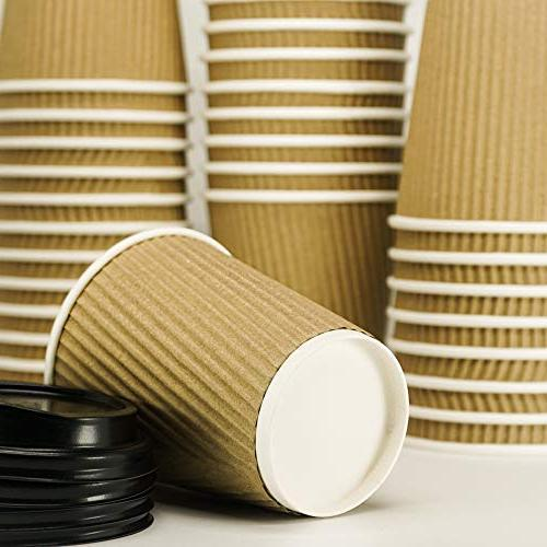 12-OZ Triple Coffee with 90 Sleeves Required - for Go, Leak! Recyclable Durable