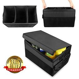 GOGOLO Large Heavy Duty Auto Trunk Organizer Can with Lid Fo
