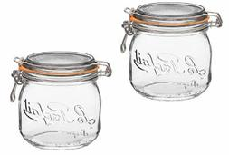 Le Parfait French Glass Canning Jar with 85mm Gasket and Lid