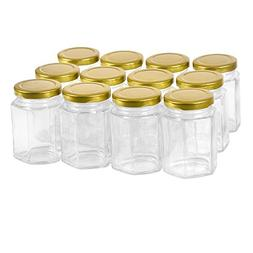 12 pack 4 oz Clear Glass Jam Jars for Jam,Honey,candies,sauc
