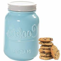 Mason Cookie Jar With Lid - Large Airtight Ceramic Kitchen C