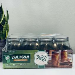 🔥🍊Mason Jar Ball 32oz 12pk Wide Mouth Canning with Lid