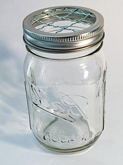 Mason Jar Frog Lid Insert Regular Mouth 16 oz Bundle