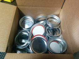 Ball Mason Jar Wide Mouth Lids and Bands 100 each for Mason