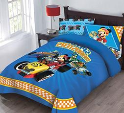 Disney Mickey Mouse Speed Roadster Licensed Twin Comforter S