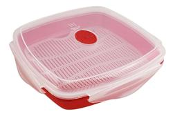 Microwave Bacon Grill with Lid Cooks Meats and Fish in Minut