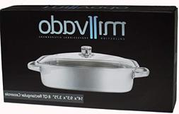 Millvado Stainless Steel Rectangular Casserole | Tempered Gl
