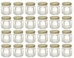 Mini Glass Jars with Lids Small Honey Jam Container Clear St