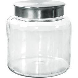 Anchor Hocking Modern Montana Jar with Brushed Aluminium Met