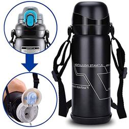 Travel Mug Stainless Steel Water Bottle Hot Thermos Climbing