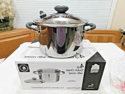 NEW ROYAL PRESTIGE 4 QT STOCK POT & USED LID T304 Surgical S