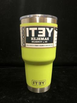 New! Chartreuse Yeti 30oz Rambler Cup With Magslider Lid