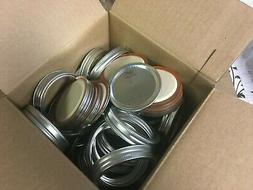 NEW Ball Mason Canning Jar Ring Band Lids - Wide-Mouth - 50