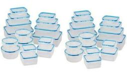 NEW Wexley Home Plastic Food Storage with Locking Lid 32-Pie