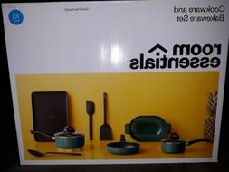 NEW Room Essentials Cookware and Bakeware 10 Piece Set ~ Tur