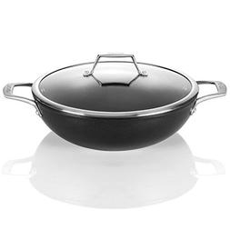 TECHEF - Onyx Collection, 12-Inch Wok / Stir Fry Pan with Gl