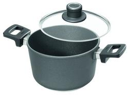 Woll Nowo Titanium Saucepan with Side Handles and Lid, 3.2-Q